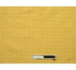 Halenkoviny - košilová látka 9850 žlutá kostečkovaná