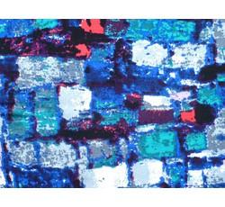 Halenkoviny - viskózová halenkovina 9834 dlaždice modrá