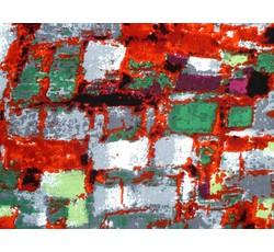 Halenkoviny - viskózová halenkovina 9834 dlaždice červená