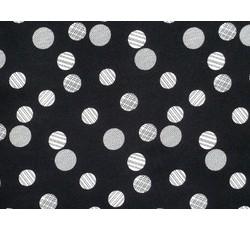 Šatovky - černá šatovka 9796 s puntíky