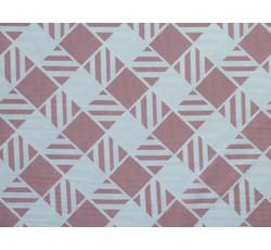 Halenkoviny - bílá šatovka 9840 starorůžové geometrické tvary
