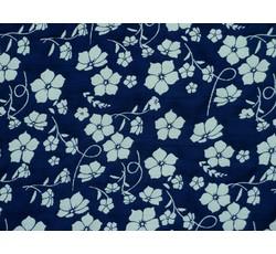 Šatovky - modrá šatovka 9929 s květy