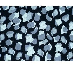 Úplety - černý viskozový úplet 9934 šedé kamínky