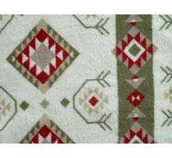 Fleece - coral fleece  geometrické tvary