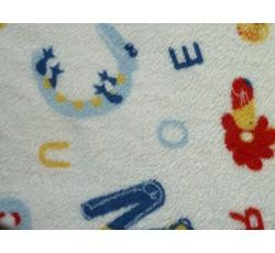 Fleece - coral fleece bílý s písmenky