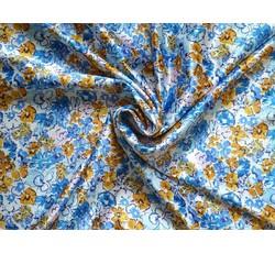 Halenkoviny - šatovka 9885 modré kvítky