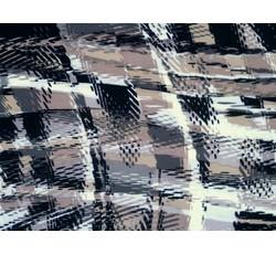 Úplety - hnědý vzorovaný úplet 9930