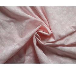 Halenkoviny - světle růžová halenkovina 1070 s kvítky