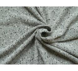 Úplety - šedá pletenina 1953 černé nopky