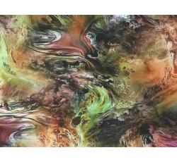 Hedvábí - hedvábná šatovka 1902 mramorový vzor