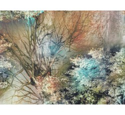 Hedvábí - hedvábná šatovka 1902 podzimní příroda