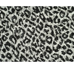 Úplety - černo bílá pletenina 2009 vzor leopard