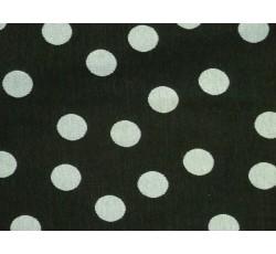 Úplety - černý viskozový úplet 2030 s puntíky