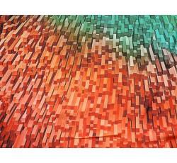 Hedvábí - hedvábná šatovka 2042 barevné krystaly