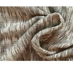 Úplety - bavlněná pletenina 2101 šedá melanž