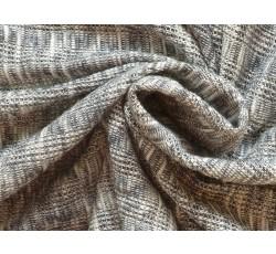 Úplety - bavlněná pletenina 2101 modrá melanž