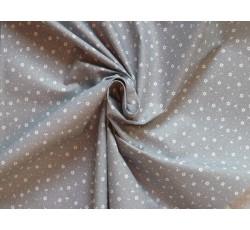 Bavlněné látky - šedá bavlněná látka 9411 s kytičkami
