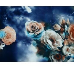 Halenkoviny - modrá šatovka 2023 s růžemi