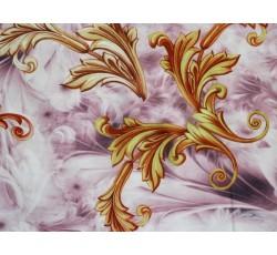 Hedvábí - růžová hedvábná šatovka 2048 zlatý vzor