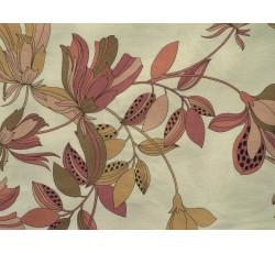 Halenkoviny - krémová viskózová šatovka 3019 s květy