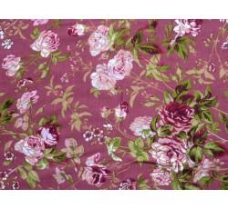 Halenkoviny - starorůžová viskózová šatovka 3019 s květy