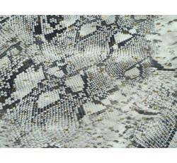 Halenkoviny - viskóza 3023 hadí vzor zlaté zdobení