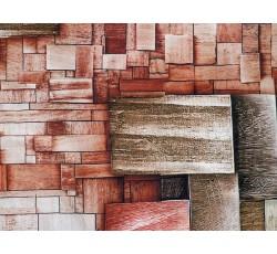 Hedvábí - hedvábí 2081 dlaždicový vzor červený