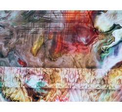 Hedvábí - hedvábí 2081 mramorový vzor s pruhy
