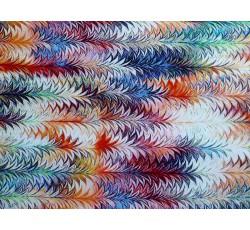 Šatovky - viskóza 2074 barevný stromečkový vzor