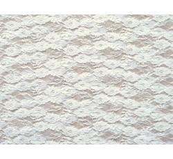 Krajky - elastická krajka 3212 bílá