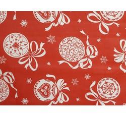 Vánoční bavlny - bavlna christmas 190 červená