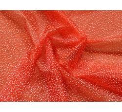 Organzy - vánoční organza 79 červená