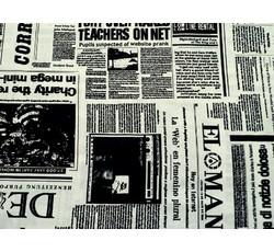 Bavlněné látky - bavlněná látka novinový tisk