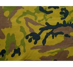 Bavlněné látky - maskáčovina zeleno hnědá