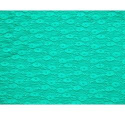 Krajky - elastická krajka 3212 tyrkysová