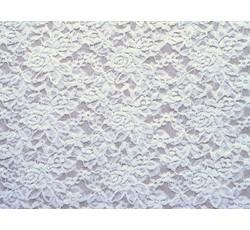 Krajky - elastická krajka 16 bílá