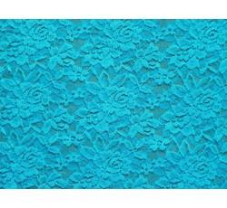 Krajky - elastická krajka 9 tyrkysová