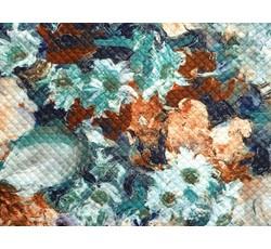 Úplety - úplet 8348 zateplený oranžové květy