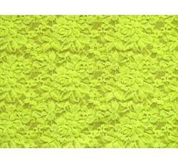Krajky - elastická krajka 22 neonově žlutá