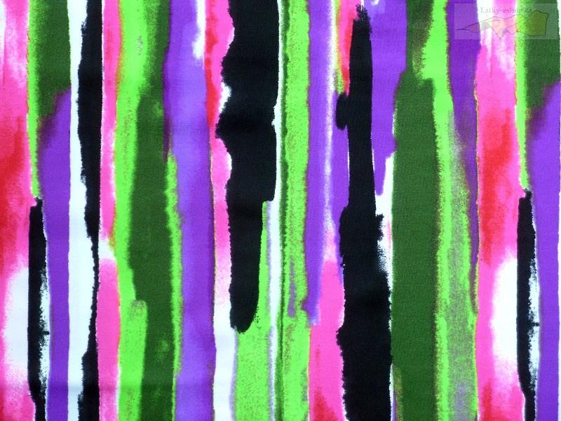 e08eec480528 Plavkoviny a látky na fitness - plavkovina barevné pruhy