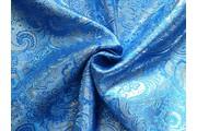 brokát 23 modro stříbrný