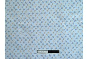 bledě modrá bavlněná látka 2040 s kytičkami