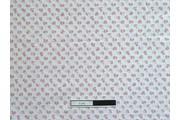bílá bavlněná látka 3010 s kytičkami