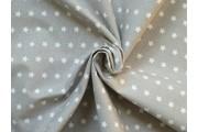 bavlněná látka artcraft režná s hvězdičkami