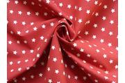 bavlněná látka artcraft červená s hvězdičkami