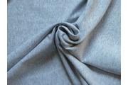 bavlněný úplet felpa šedý žíhaný