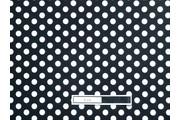 černá bavlněná látka bílý puntík