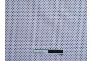 bílá bavlněná látka červený puntík