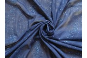 elastický tyl boemia modrý s flitry