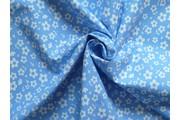 bavlněná látka artcraft modrá s kvítky
